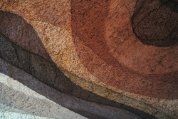 Form of soil layers,its colour and textures,texture layers of earth,Soil background
