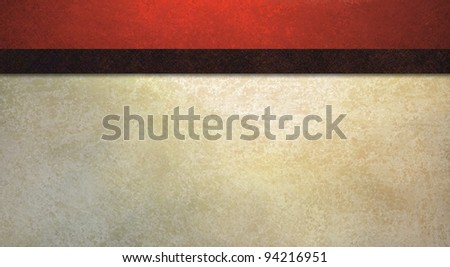 formal background with vintage red sponge texture and old white wall illustration with dark contrast black ribbon stripe has copy space for web template or elegant party invitation