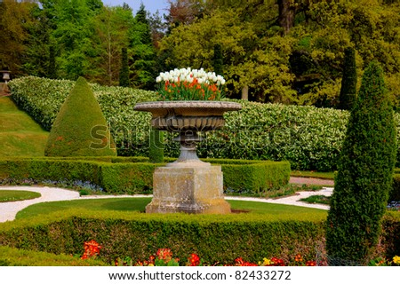 Formal garden in an English Stately Home