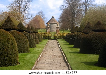 Formal Gardens of English Country Estate