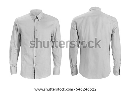 Formal shirt with button down collar isolated on white #646246522