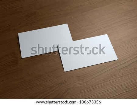 Formal style business cards presentation for Corporate promotion.