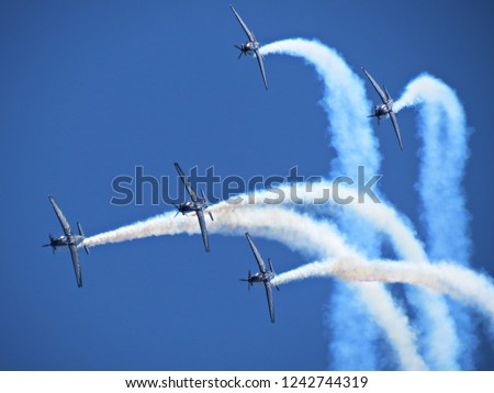 Formation flying at an airshow