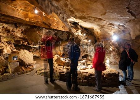 Formations inside Koneprusy caves in Czech Republic  Stock photo ©
