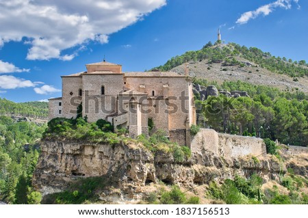 Former monastery of San Pablo from the 16th century today converted into a national parador de turismo, Cuenca Foto stock ©