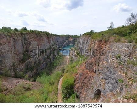 Former quarry - Big America Canyon, near Karlstejn, Prague, Czech republic (Lom Velka Amerika) Stok fotoğraf ©