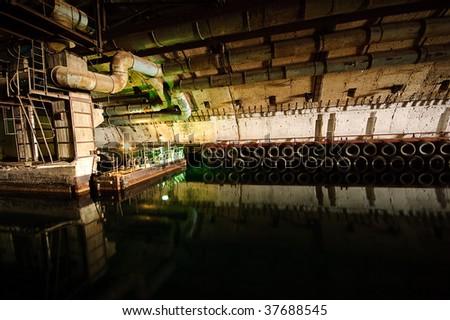 Former soviet submarine underground base