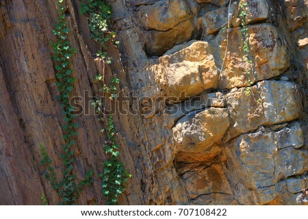 Forms of soil layers and rock layers #707108422