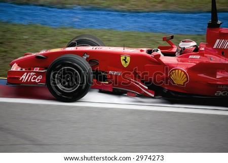 formula 1 2007 car, close-up, team ferrari