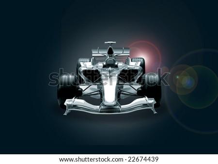 formula one car in black and chrome