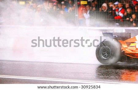 Formula One Car Wheelspin