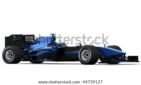 Formula  Auto Racing News on Formula One Race Car On White Background   High Quality 3d Rendering
