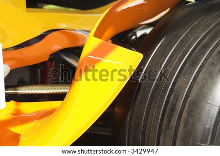 formula one wheel detail