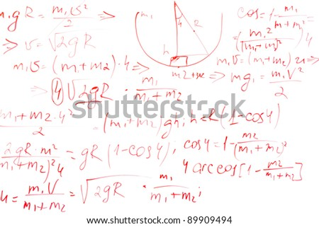 formulas on a whiteboard