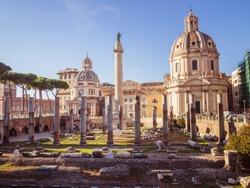 Foro Trajano in Rome, Italy