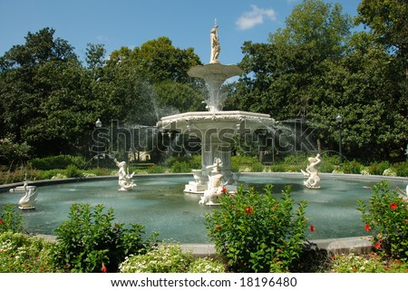 Forsyth Park Fountain in Savannah Georgia