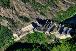 Fort Bard, Bard, Aosta Valley, Italy. Fort Bard is a fortified complex built in the 19th century by the House of Savoy.