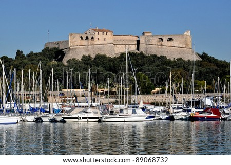 Fort Carre, a 16tth century fort in Antibes and a famous landmark in French RIviera