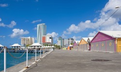 Fort de France promenade - Martinique - Tropical island