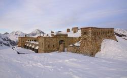Fort Gondran C ( 1887-1890 ) 2,459 m. (8,068 ft) altitude, Montgenèvre, France