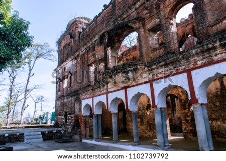 Fort in a heritage village in Himachal. Guler Kingdom were the rulers & this place is famous for Kangra Paintings Imagine de stoc ©