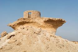 Fort in the Desert, Mystery Village in Zekreet, Qatar, Middle East.