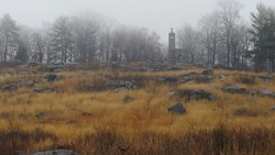 Fort in the mist, Gettysburg PA