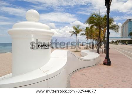 Fort Lauderdale Beach promenade.