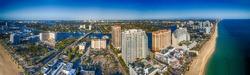 Fort Lauderdale coastline , aerial view of Florida.