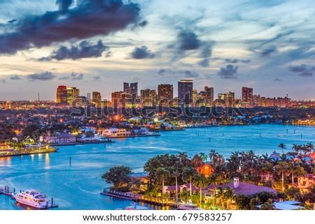 Fort Lauderdale, Florida, USA skyline. Photo stock ©