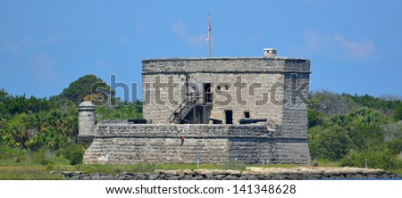 Fort Matanzas is a national landmark that was constructed in 1742 just fifithteen miles from historic St. Augustine, Florida.