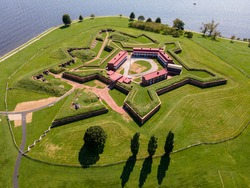 Fort McHenry from the air, Baltimore
