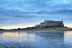 Fort National on sunset in Saint Malo, Brittany, France