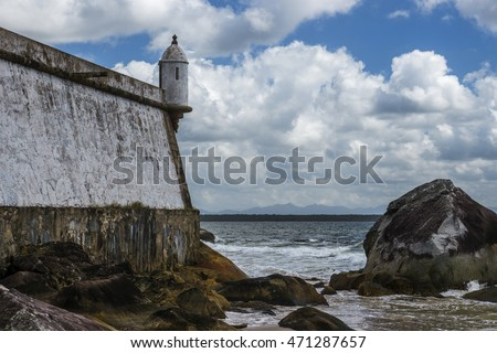 Fort Nossa Senhora dos Prazeres at Ilha do Mel, Paranagua, Parana, Brazil