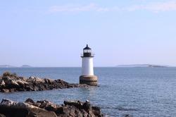 Fort Pickering (Winter Island) Lighthouse Located in Salem, Massachusetts.