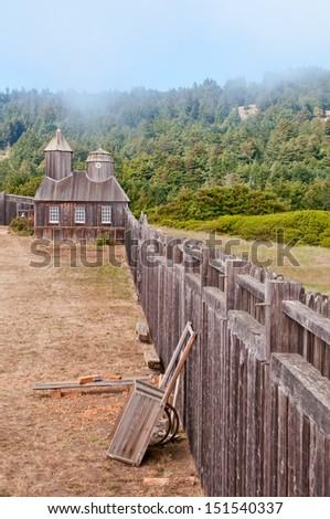 fort ross yard and perimeter...
