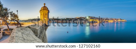 Fort Saint Michael gardjola (watch tower) in Senglea, Malta