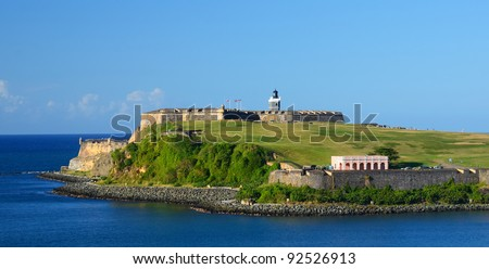 Fort San Felipe Del Morro in San Juan, Puerto Rico - stock photo