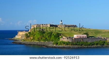 Fort San Felipe Del Morro in San Juan, Puerto Rico - stock photo