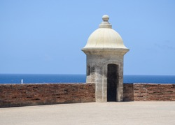Fort Tower with Seascape Background