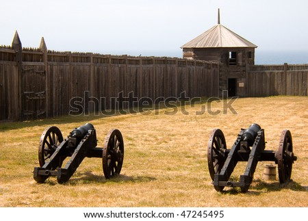 fort walls, tower and cannons