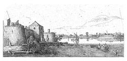 Fort with defenses of Tholen on the Scheldt, Esaias van de Velde, 1615 - 1616