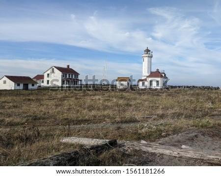 Fort Worden State Park Lighthouse Stockfoto ©