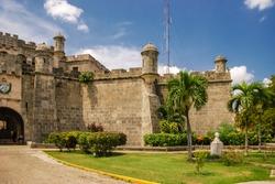 Fortaleza de San Carlos de la Cabana (Fort of Saint Charles) is 18th-century fortress complex, located on elevated eastern side of harbor entrance in Havana, Cuba. It rises above hilltop, Morro Castle