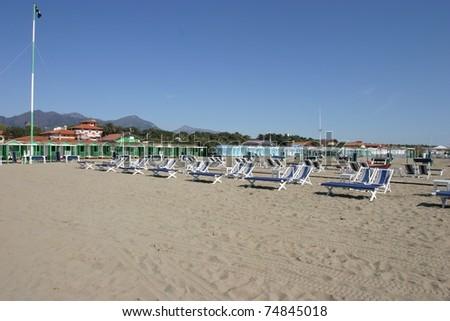 Forte Dei Marmi, Italy, the beach