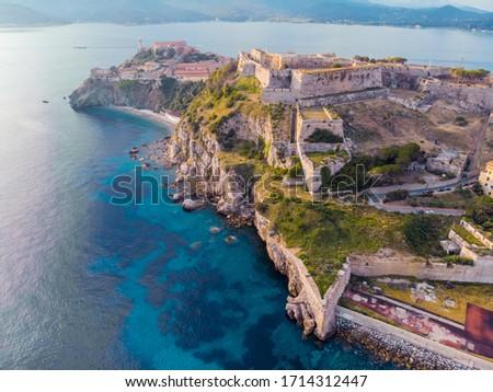 fortezze medicee isola d'elba tuscany Foto stock ©