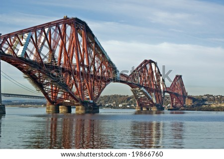 forth bridge near edinburgh in scotland