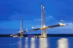 Forth Bridge Queensferry Crossing under construction.