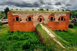 Fortification structure. Bobruisk fortress. The city of Bobruisk. Belarus. 1810 - 1812 years.