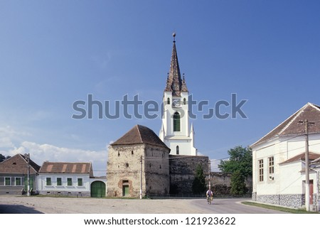 fortified church at Girbova, Transylvania, Romania